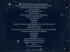 """Our Celestial Romance II."" ©Ninnu Kori Poetry and @ninnukoripoetry, 2017. (Comment, Like, Tag, Share, Enjoy!) Tag: #ninnukoripoetry Instagram/Twitter: @ninnukoripoetry"