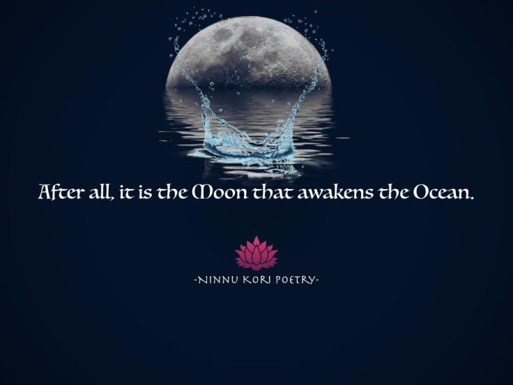 """The Moon and the Ocean II."" @ninnukoripoetry"